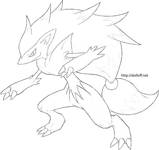 Zoroark Pokemon Coloring Pages