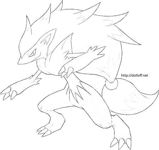 Coloring Pages Pokemon Zoroark 2020
