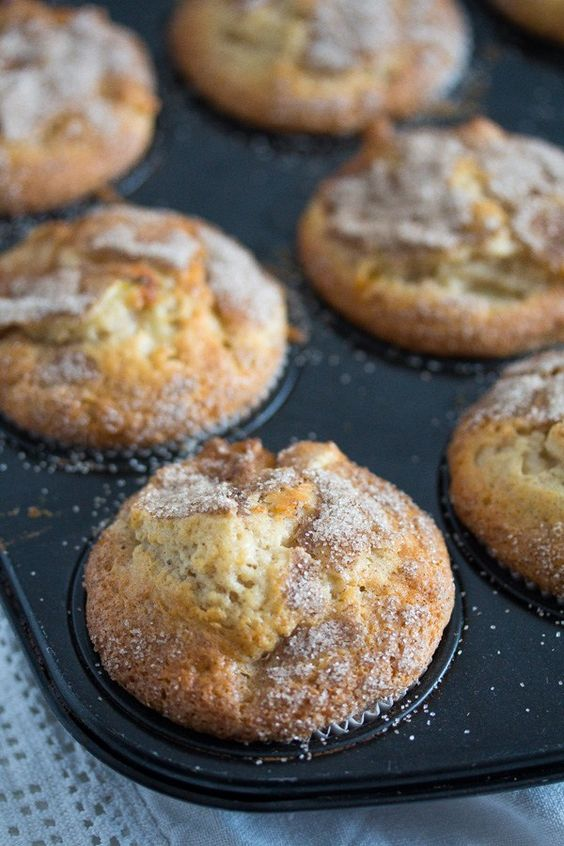 Cinnamon Apple Muffins - with Oil