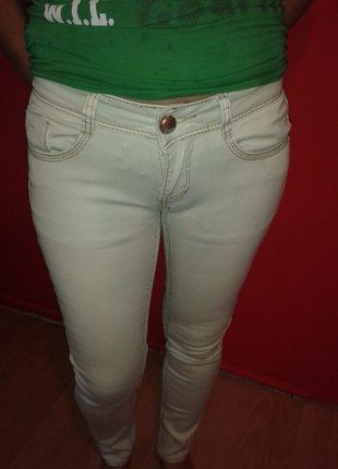 Kup mój przedmiot na #vintedpl http://www.vinted.pl/damska-odziez/dzinsy/9879145-jasne-rurki-jeansy-rozmiar-xs-s-mietowe