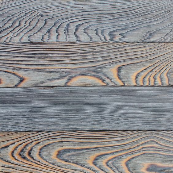 Shou sugi ban - Devised as a way to make wood less susceptible to fire and to keep away insects and rot, this longstanding Japanese method involves torching your building materials