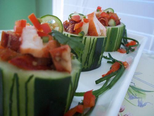 Lobster Cucumber Cups