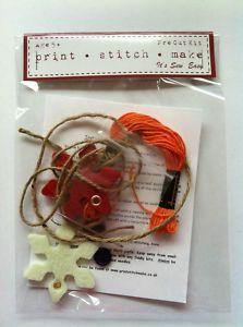 Felt Snowflake Tree Decoration Kit
