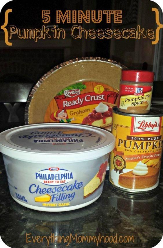 Recipe: 5 Minute Pumpkin Cheesecake with Libby's Pumpkin Puree #PumpkinCan