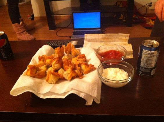 Wonton wrappers, Golden brown and Wontons on Pinterest