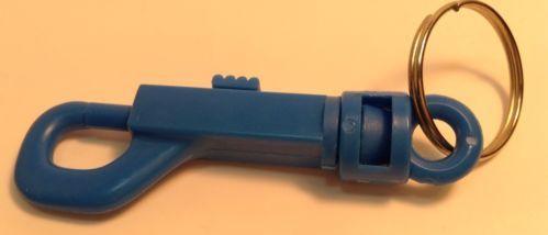 Blue Spring Clip Keychain ~ Porte-Clés Bleu A Ressort