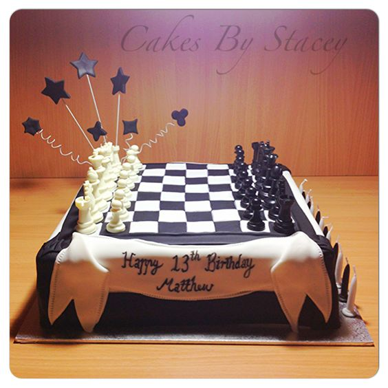 Chess Board Cake For A Really Smart 13 Year Old Cakes