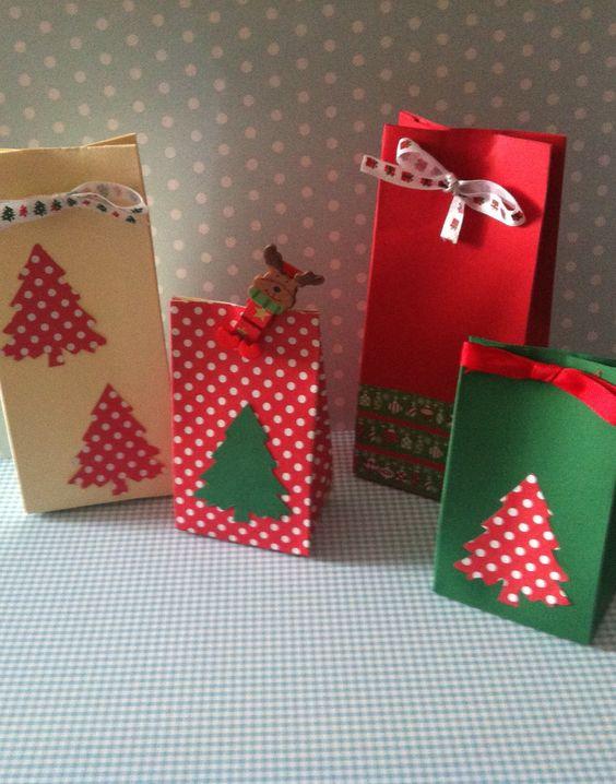 Bolsitas para regalos navidad pinterest for Decoracion navidena con ninos