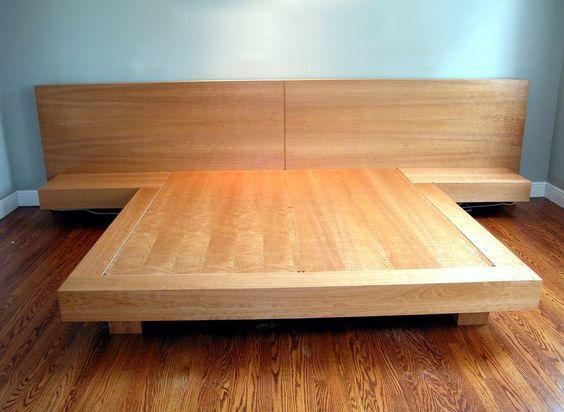 Lits plateforme cadres de lit and plateforme on pinterest for Cadre de lit king plate forme ikea
