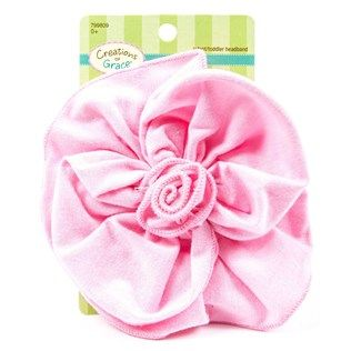 Light Pink Soft Knit Headband with Flower