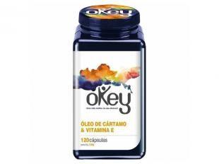 Óleo de Cártamo & Vitamina E 120 Cápsulas - Okey