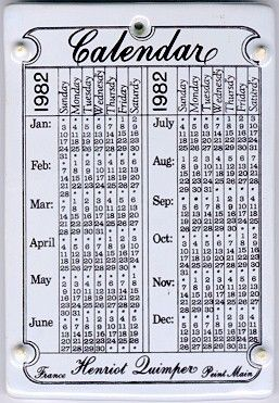 Quimper calendar tile |Pinned from PinTo for iPad|