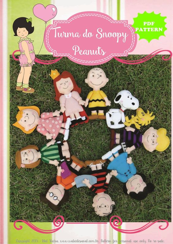 Wal Artesanal: Molde Artesanal Digital - Peanuts - Turma do Snoopy!