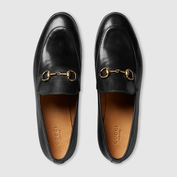 Gucci Jordaan leather loafer                              …