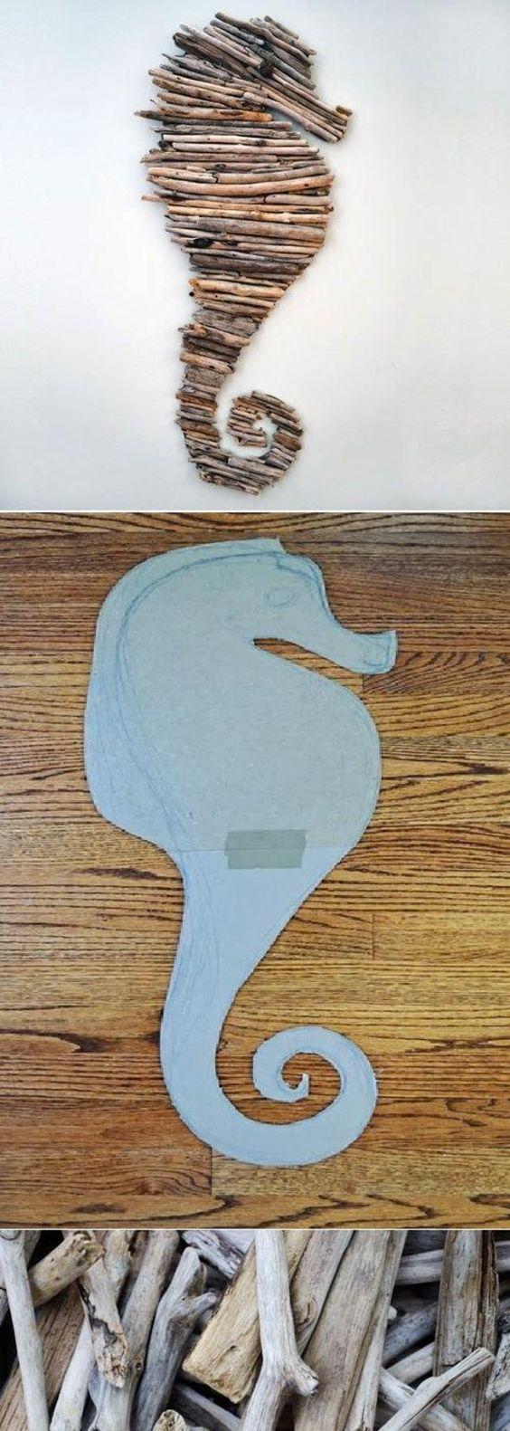 DIY. Might try this idea for something other than a sea horse though…
