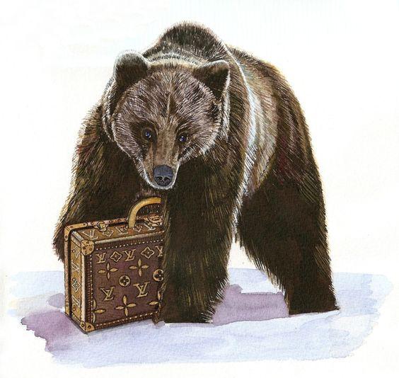 The ukrainian folk fairy tale 'The Mitten' on Illustration Served