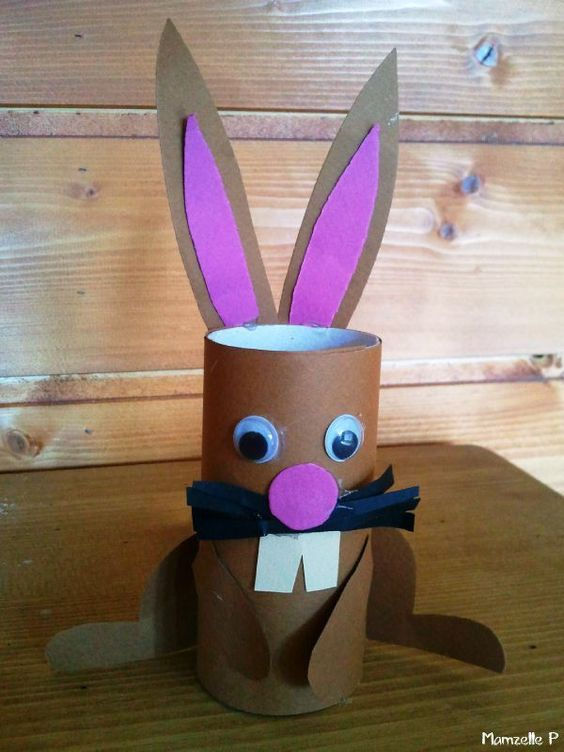 brico lapin de p ques cr er avec des rouleaux de papier pinterest ps bricolage et. Black Bedroom Furniture Sets. Home Design Ideas