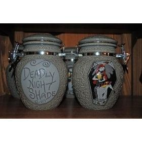 Nightmare before Christmas deadly nght shade jars