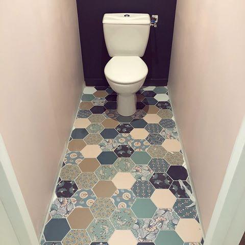 Carrelages Hexagones Decore Small Toilet Small Toilet Room Room Fan