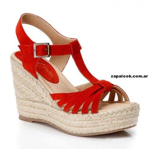 sandalias altas rojas Lady Stork verano 2014 | Zapalook - Moda en Zapatos 2017