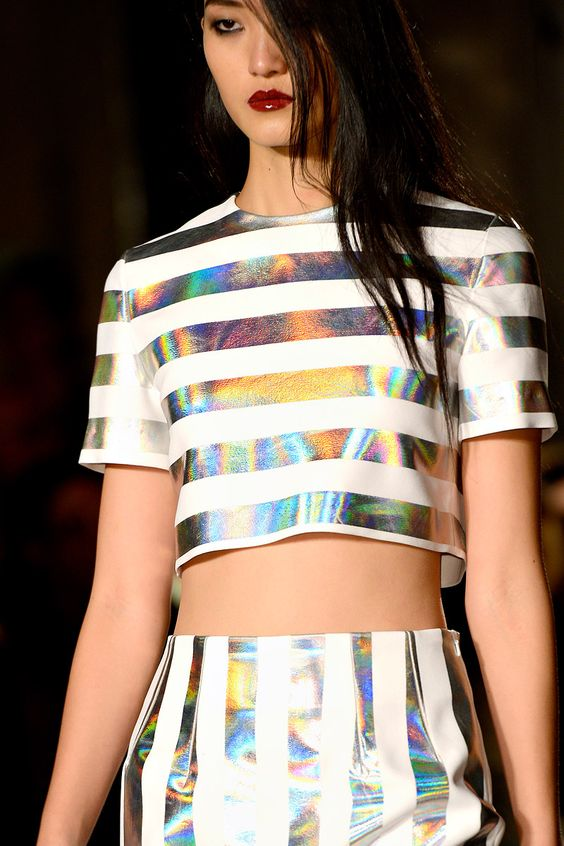 2 huge Spring Trends Combined; Stripes and Midriffs...would you buy it?  Jonathan Saunders Spring 2013: