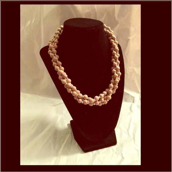 Vintage bead necklace wood texture Vintage wood bead necklace Jewelry Necklaces