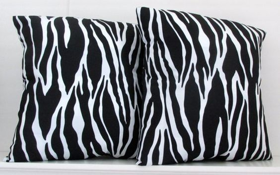 DECORATIVE PILLOW ZEBRA print  Throw pillows  by AlexanderBenton, $36.00