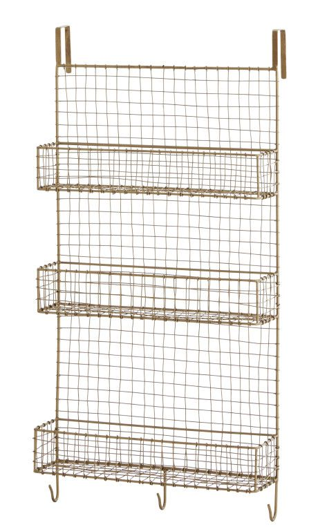 Madam Stoltz Bronze Wire Mesh Door Storage Unit - Trouva