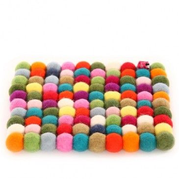 Felt Ball Trivet Original Larry