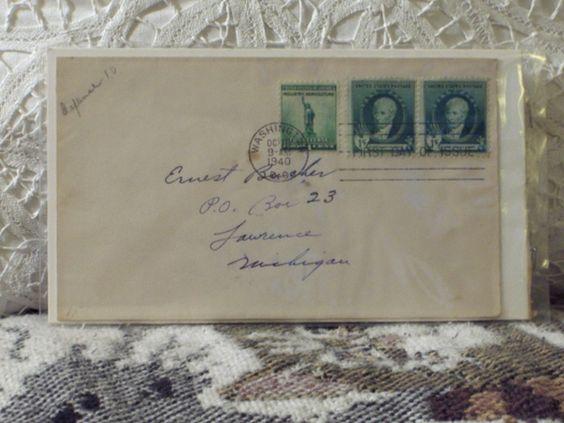 http://ajunkeeshoppe.blogspot.com/  First Day Issue/Cover-Stamp-Gilbert Charles Stuart 1940 8ozP724B4HP1166