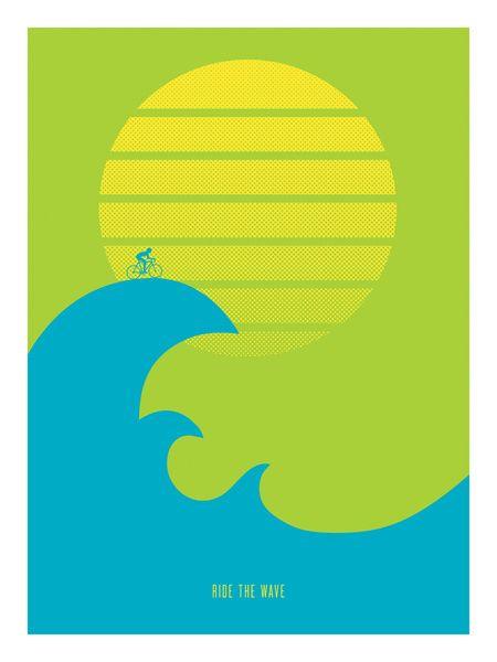 Ride the Wave - Art Print by Ajoo/Society6