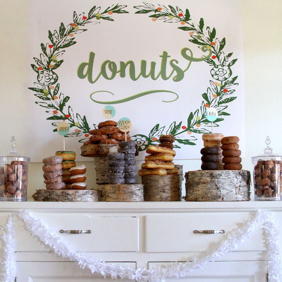 donut brunch party- a perfectly simple bar idea
