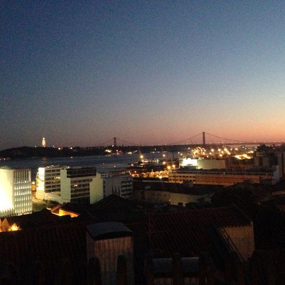 Vista do Miradouro de Santa Catarina - Lisboa