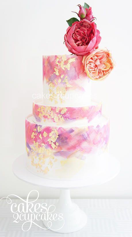 Hang Painted Wedding Cake | Watercolor Wedding Cake