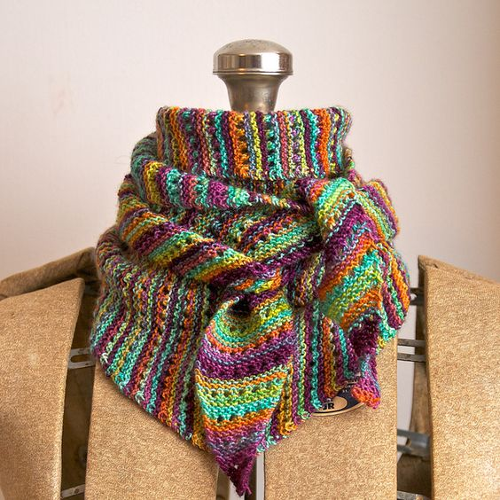 Free Knitting Pattern Sock Yarn Scarf : Noro sock yarn would be great for this Lacy Baktus pattern. This one is Two W...