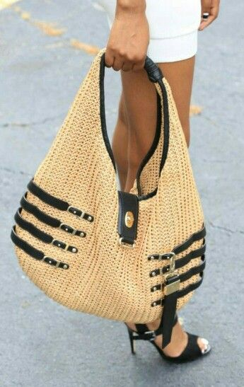 Jimmy Choo Straw Hobo Handbag