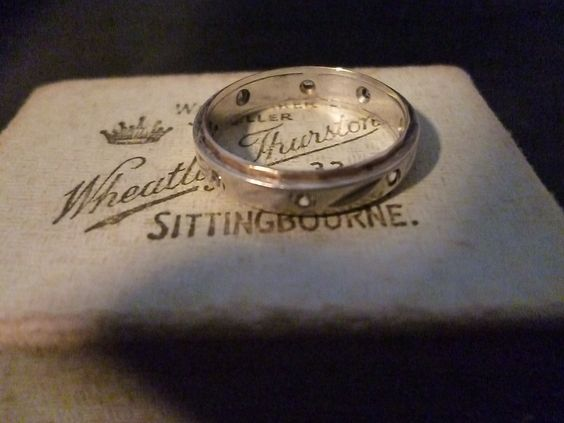Vintage gold and sterling silver ring with diamond 925 gold