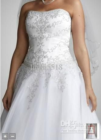 Top ball gown - front