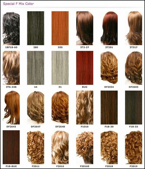 Weave Hair Color Chart Different Blonde Brown Red Dark