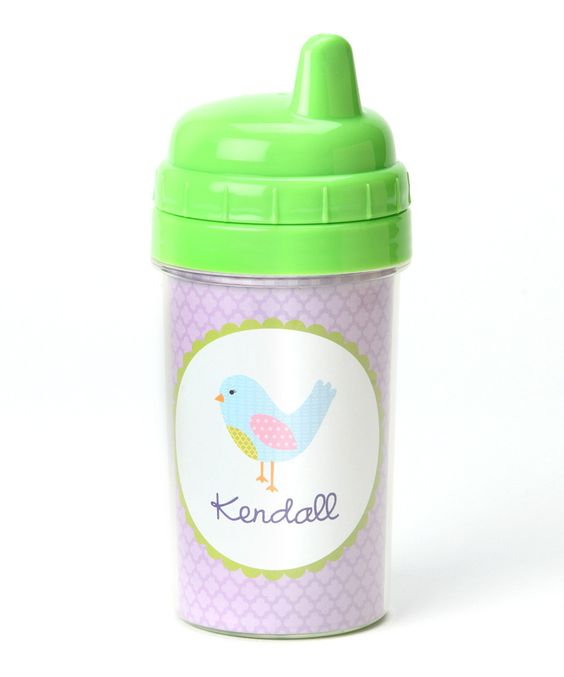 Purple Bird Personalized Sippy Cup Lima Bean Kids