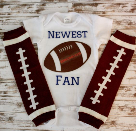 A personal favorite from my Etsy shop https://www.etsy.com/listing/248237147/newest-fan-football-onesie-with-football
