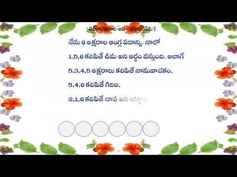 Telugu Funny Word Game - Who am I | Word games, Funny words, Words