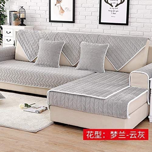 1pcs Sofa Cover Plush Couch Cover Fleece Fabric Soft Anti Mite Modern Sofa Towel Slipcover For Living Room Home Wedding Decor Sectional Sofa Slipcovers Sofa Covers Couch Covers