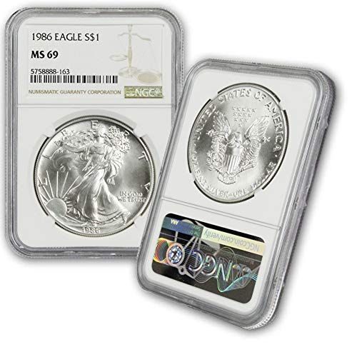 1986 American Silver Eagle 1 Ms69 Ngc Mintage 5393005 The U S Silver Eagle Appeals To Both Invest American Silver Eagle Silver Eagles Gold American Eagle