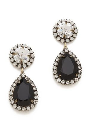 pretty #black jewel drop earrings http://rstyle.me/n/jkxmhr9te