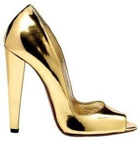 shoes gold sparkle-