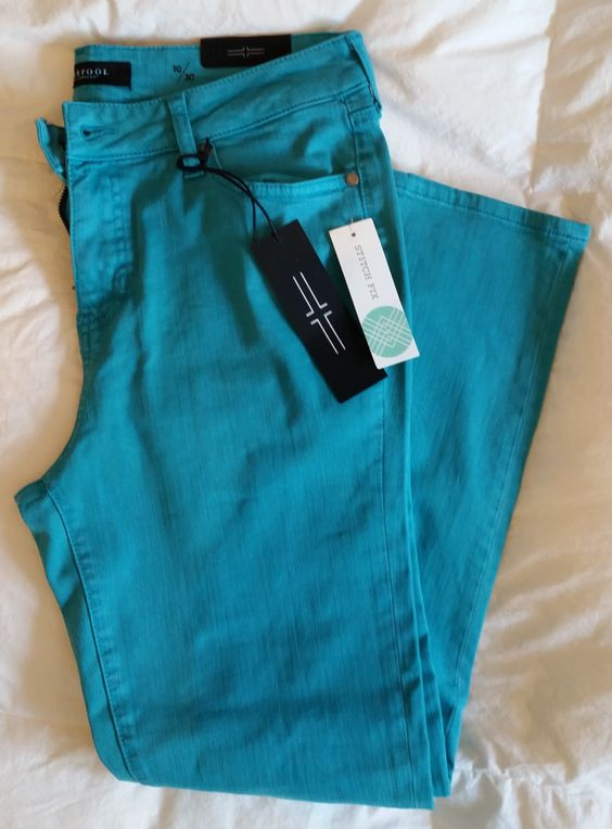 May 2016 Stitch Fix Liverpool Vinny Slim Straight Leg Ankle Jean (Turquoise) https://www.stitchfix.com/referral/4371189 #StitchFix #LiverpoolJeans