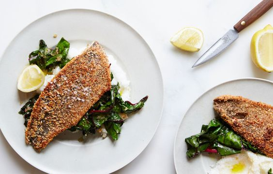 The search for crispy trout skin stops here. Dredging the fish in ground almonds works wonders, adding a delightfully toasty exterior.