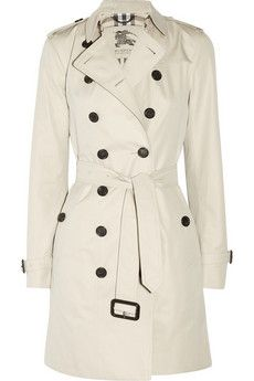 cotton twill trench coat // burberry