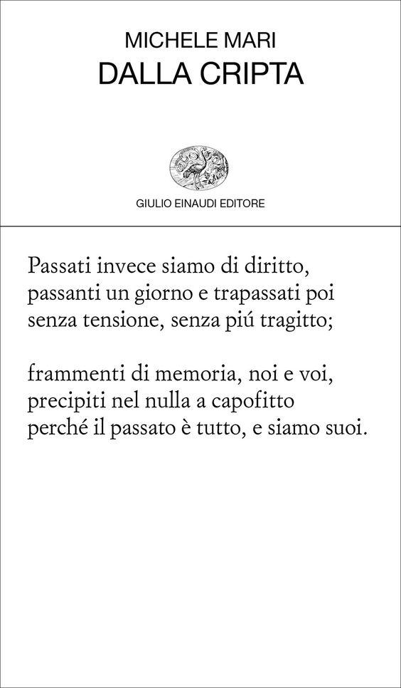 Michele Mari, Dalla cripta, Collezione di poesia - DISPONIBILE ANCHE IN EBOOK